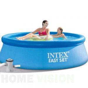Надуваем басейн INTEX Easy Set 244 х 76 см. с филтърна помпа