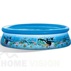 Надуваем басейн INTEX Easy Set, 305 х 76 см. Ocean Reef
