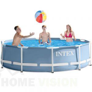 Сглобяем басейн INTEX Prism Frame с филтърна помпа 305 см