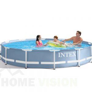 Сглобяем басейн INTEX Prism Frame с филтърна помпа 366 см
