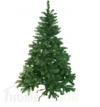 Голяма коледна елха изкуствена 155см - 377 бр. върхови клонки