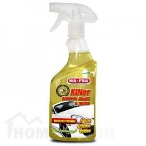 Препарат за премахване на петна от мушички насекоми или смоли от каросерията на автомобила.
