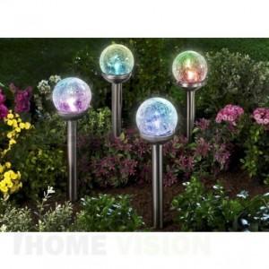 Соларна лампа за градина с променящи се цветове SS-6087 LED