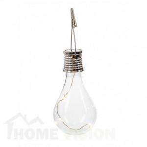 Соларна лампа крушка SР-6160 с кукичка за окачване и клипс