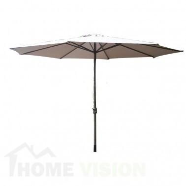 Градински чадър TLB005-350-6 таупе / 350см