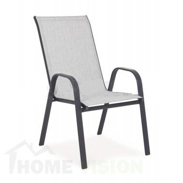 Градински стол с метална конструкция SC-092 сив