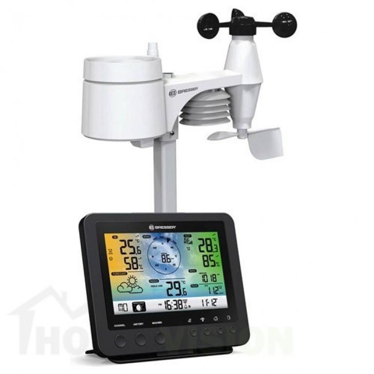5-в-1 Wi-Fi метеорологична станция Bresser с цветен дисплей