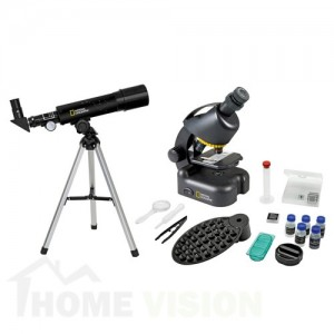 Комплект телескоп 50/360 AZ и микроскоп 40x-640x Bresser National Geographic