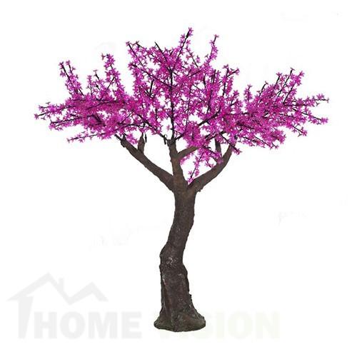 Светещо дърво с розови цветчета 190см