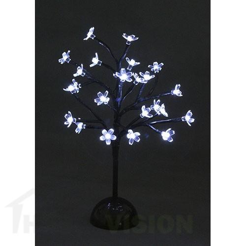 Светещо дърво с бели цветчета 37см
