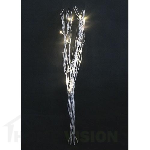 Светещи сребърни клонки 80см