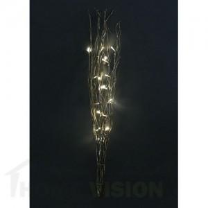 Светещи златни клонки с брокат 80см