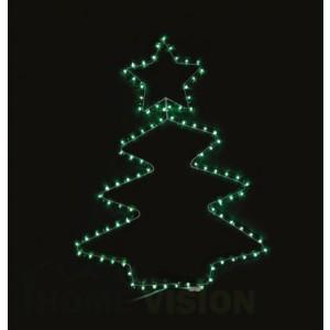 Светеща фигура елха със звезда 55см