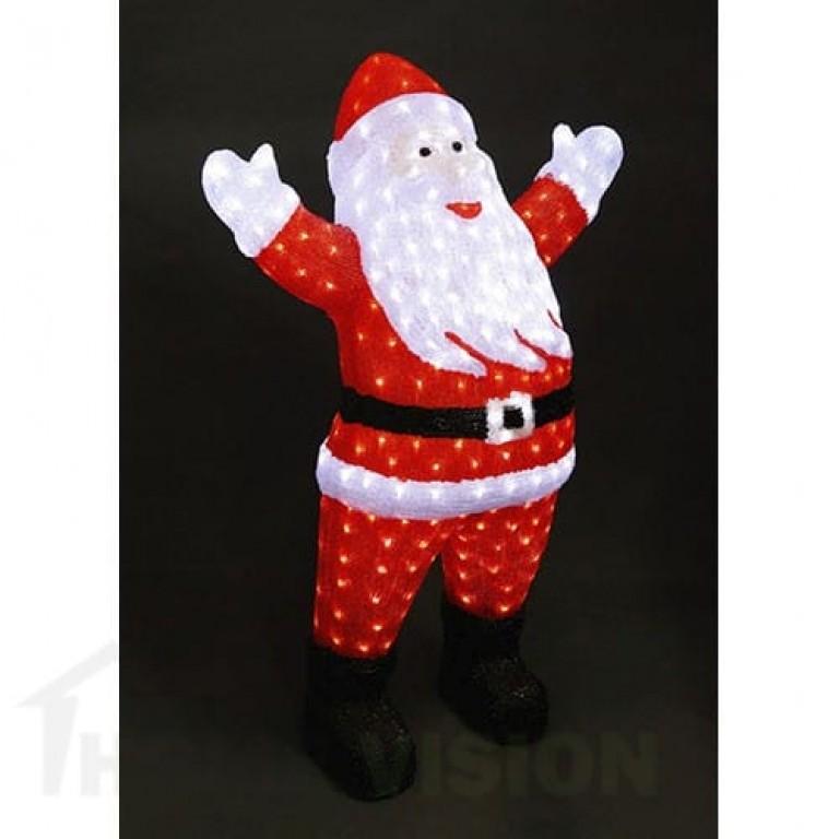 Светеща фигура Дядо Коледа 120см