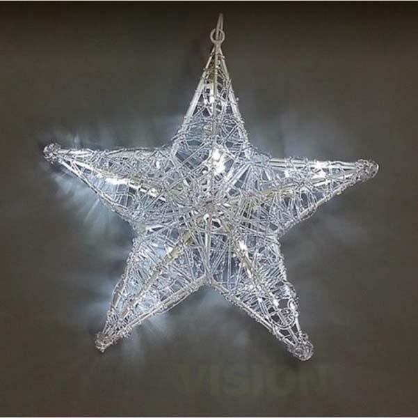 Светеща фигура звезда 34см