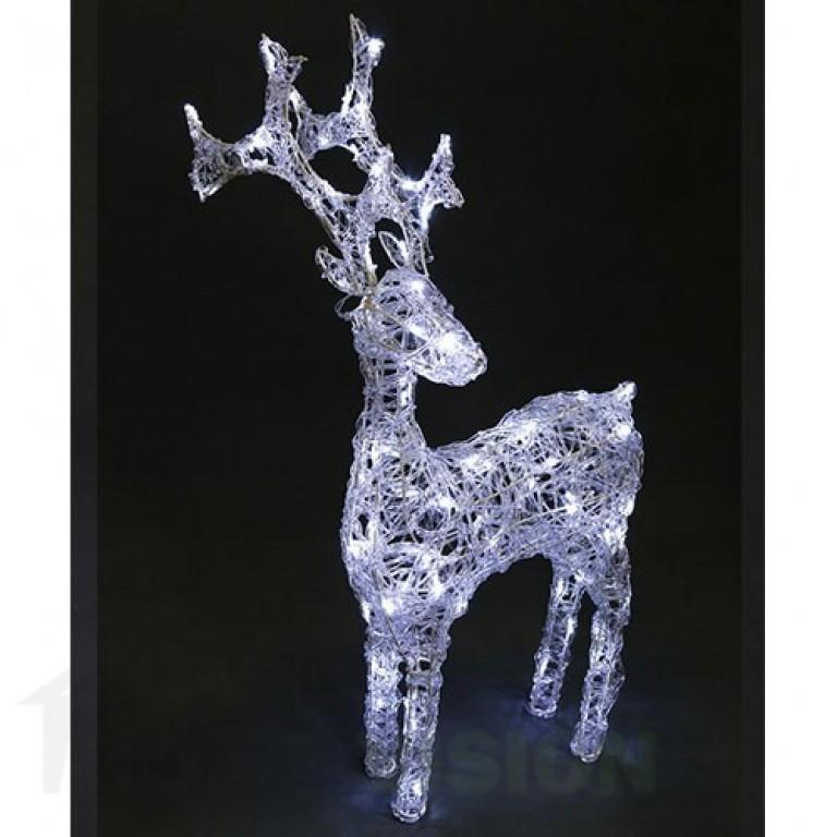 Светеща фигура eлен прозрачен 70см