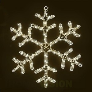 Светеща фигура снежинка 48см
