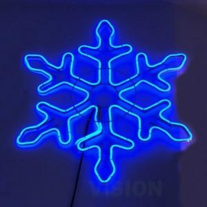 Светеща фигура снежинка НЕОН 65см
