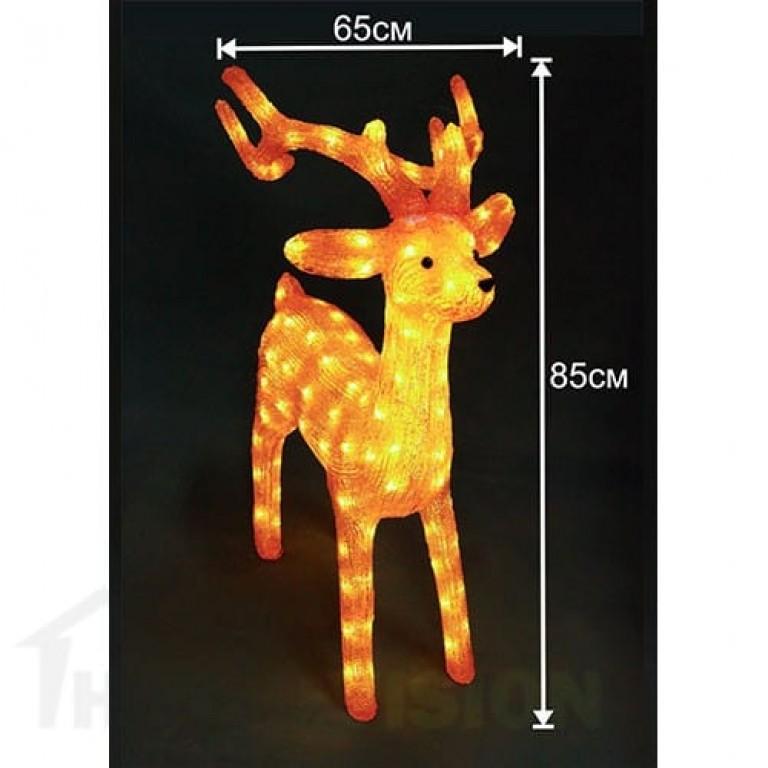 Светеща фигура златен елен 85см