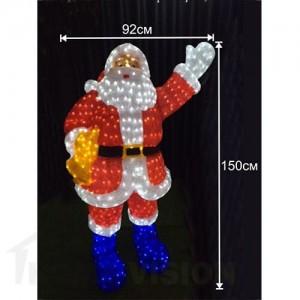 Светеща фигура Дядо Коледа 150см