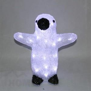 Светеща фигура пингвин черно и бяло 30см