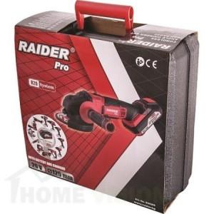 Ъглошлайф акумулаторен Raider R20 RDP-SAG20 с батерия,зарядно и куфар