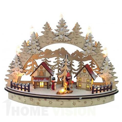 Коледна LED декорация Снежни елхички