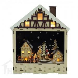 Коледна светеща къщичка с 10 LED светлини