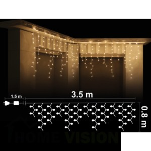 Висулки 300 топло бели RICE лампички, размер 3.5 х 0.8м