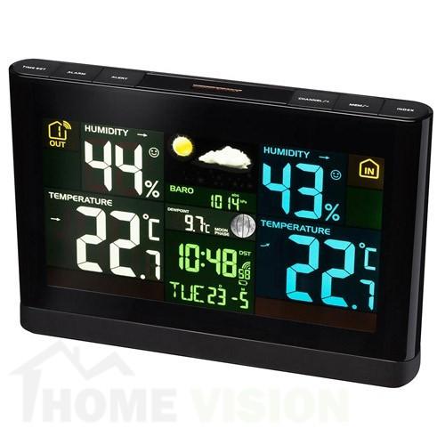 Метеорологична станция Bresser с цветен дисплей черна