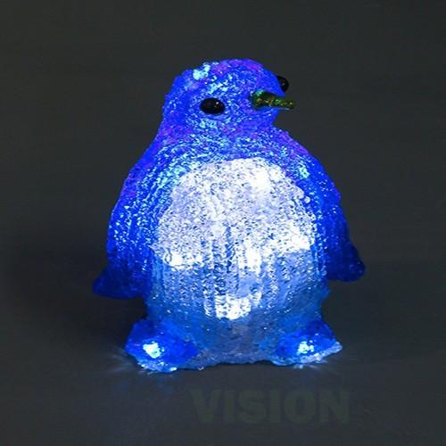Светеща фигура Пингвин 20 бели LED диодни лампички, 20см