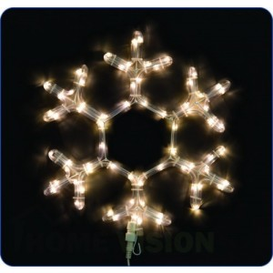 Светеща фигура снежинка 35см