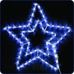 Светеща фигура Двойна звезда 55см