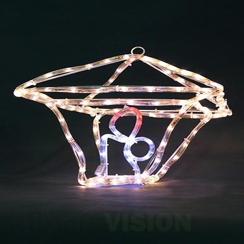 Светеща фигура Лампа със свещ 3D 35см
