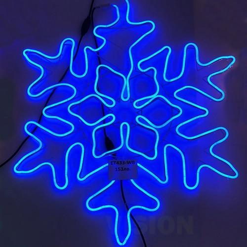 Светеща фигура снежинка Неон