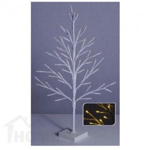 Светещо бяло дръвче 60см