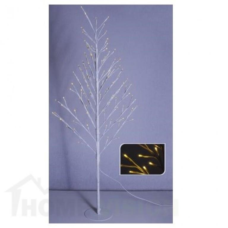 Светещо бяло дръвче 120см