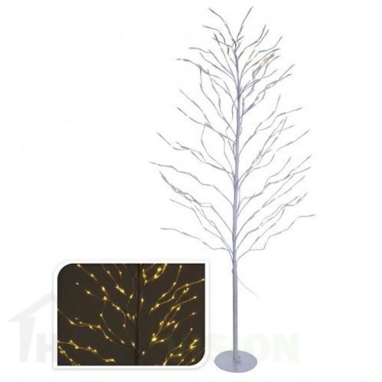 Светещо бяло дръвче 150см