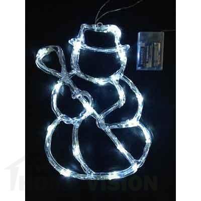 Светеща фигура СНЕЖЕН ЧОВЕК 16 бели LED лампички, 40см