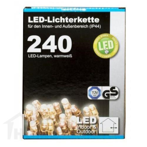 Коледни LED лампички с адаптер 240бр-21м