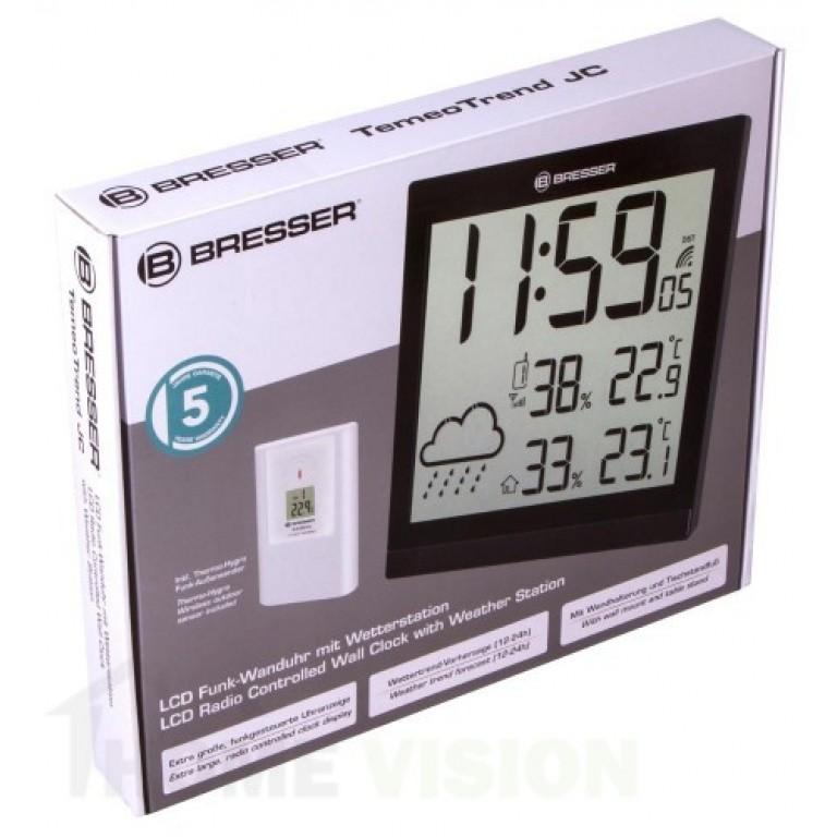 Mетеорологична станция Bresser TemeoTrend JC LCD RC черна