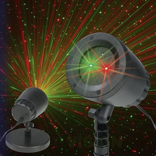"""Фасаден лазерен прожектор """"Движещи се звезди"""""""