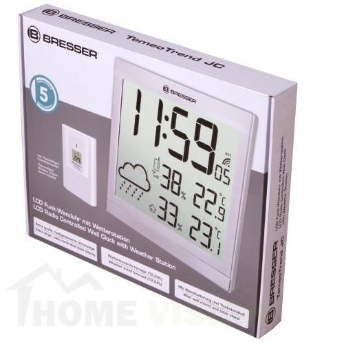 Mетеорологична станция Bresser TemeoTrend JC LCD RC сребриста