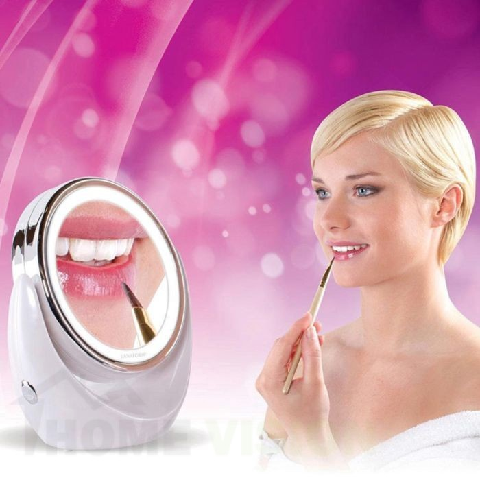 Увеличително козметично огледало Lanaform LED Mirror X10