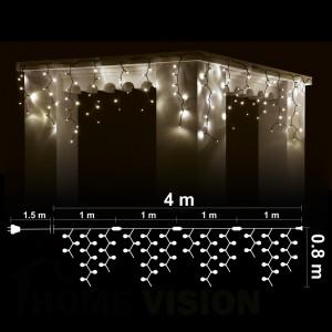 Висулка 248 топло бели 2700K LED /диодни/ лампички, 4м*0.8м, черен кабел