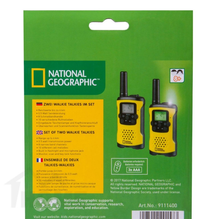 Комплект FM радиостанция тип уоки-токи Bresser National Geographic