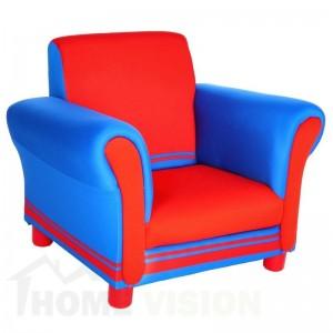 Детски фотьойл Delta Children Синьо-червен