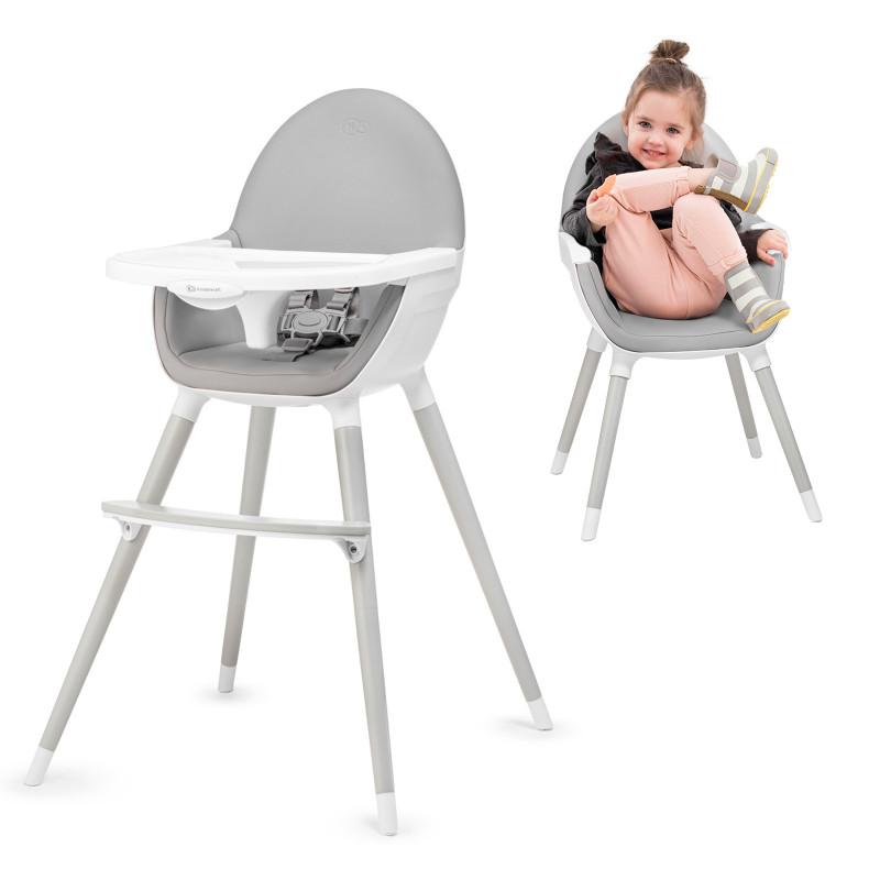 Детско столче за хранене 2в1 KinderKraft FINI all grey