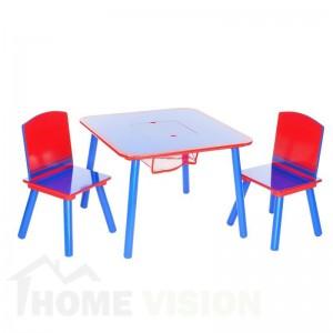 Комплект маса с два стола Delta Children Синьо-червен