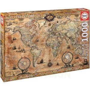 Пъзел Educa от 1000 части - Антична карта на света
